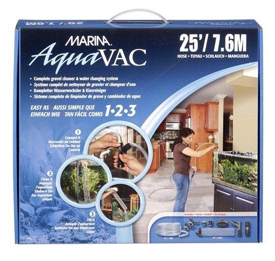 SIFON AQUAVAC MARINA - #FaunAnimal Limpiador de grava y agua Changer es increíblemente fácil de usar.  Simplemente conéctelo a su grifo del fregadero, empuje el tubo de vacío en el lecho de grava de acuario, y gire la válvula de la bomba hasta llenar su tanque.
