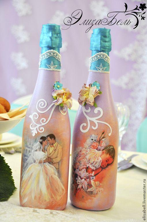 """Купить 2.Свадебный набор """"La magia del amor"""" (""""Магия любви"""") - сиреневый, бирюзовый"""