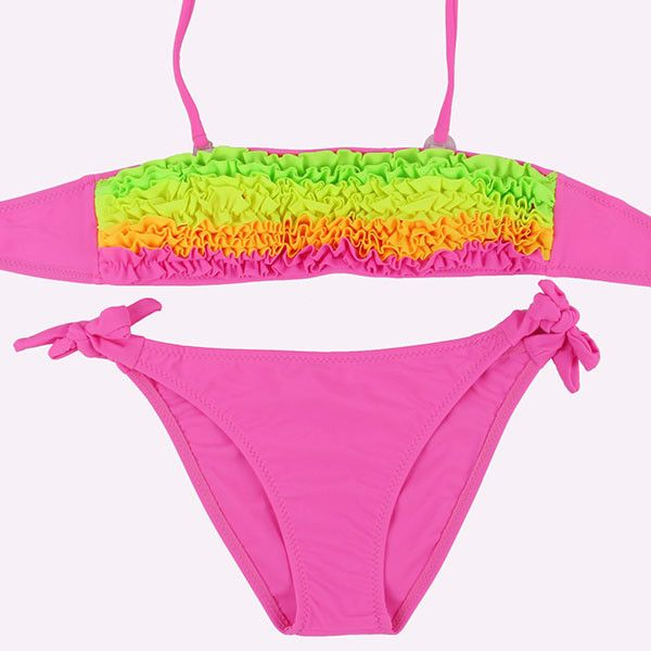 Summer Girls Bikini Cute Swimsuits Kids Beach Swimwear