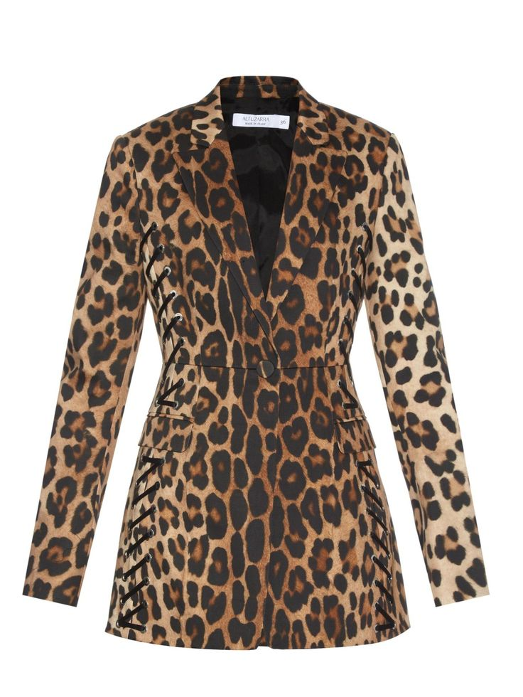 ALTUZARRA Merrie lace-up leopard-print blazer