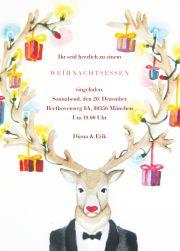 Hier war der Hirsch her.... und auch ein Tipp ... stylishe Online-Karten... sogar mit XMAS Klängen versenden. Weisse Weihnachtskarte  - grüner....