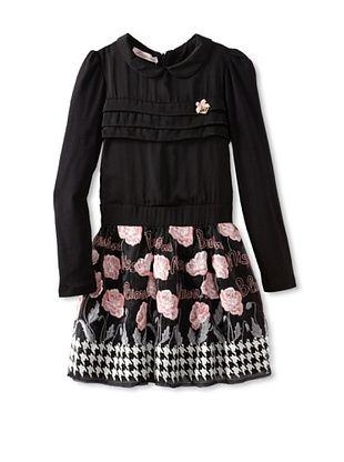 61% OFF Blumarine Girl's Dress with Embroidery (Black)