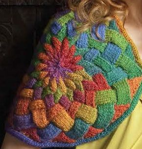 Close up shot of Entrelac Capelet by Nicky Epstein - so yummmy