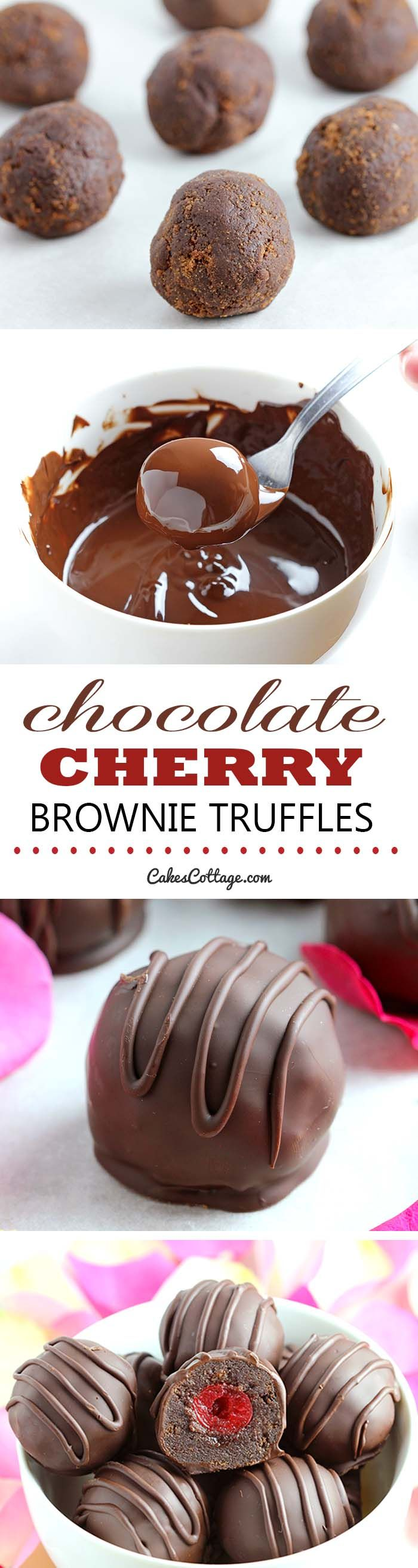 Want a sweet way to say Happy Valentine's Day? Chocolate Cherry Brownie Truffles are the perfect way to do it!