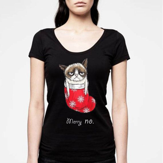 grumphy cat love chrismast for women t from NewGalaxy on Etsy