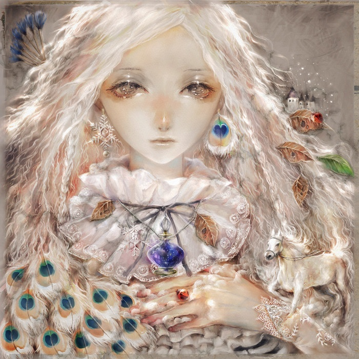 I Am Winter. Beautiful manga. Anyone remember Sulamith Wülfing? This has the same ethereal, shimmering quality.