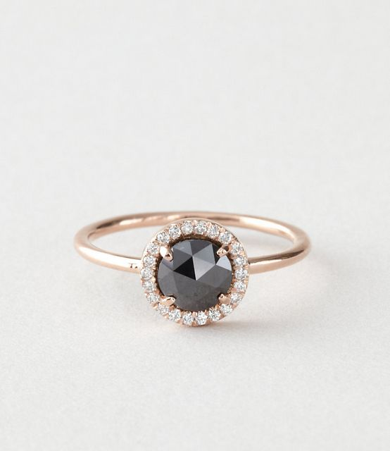 Officially have decided I want a black diamond ring. Blanca Monros Gomez Black Diamond Ring | Steven Alan