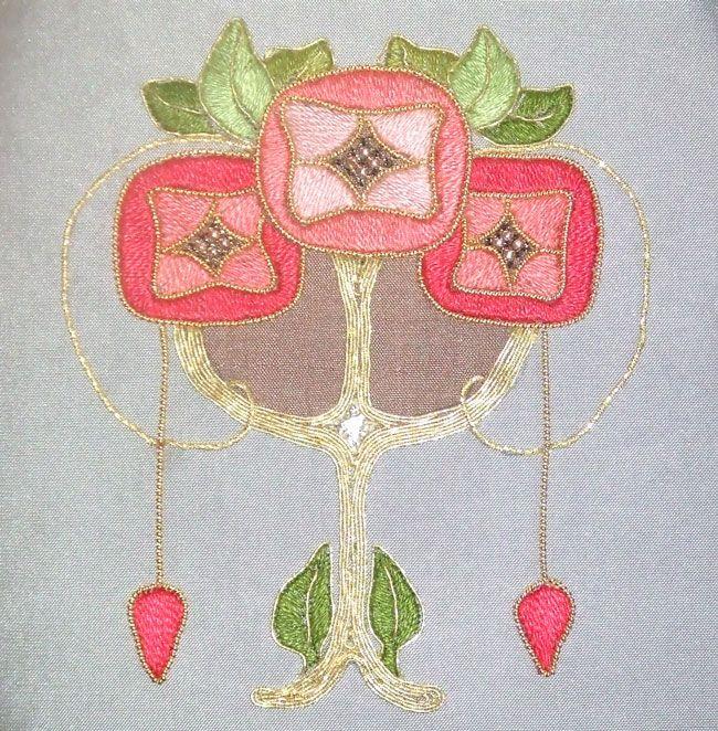 Art Nouveau Embroidery Design