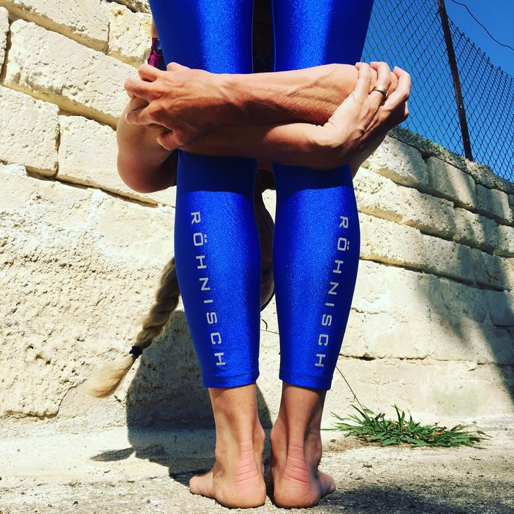 Blue Shiny Tights Yoga Training Wear