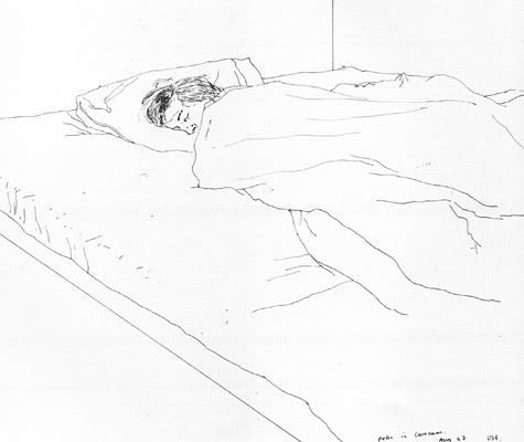 David Hockney, Sleeping
