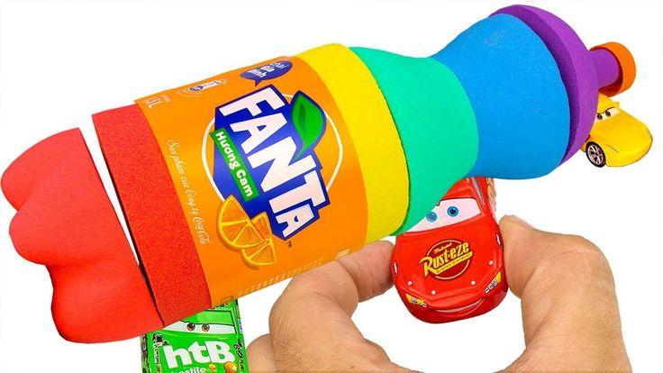 Kinetic Sand Rainbow Fanta Coca Cola Disney Cars 3 Lightning Mcqueen Sur...