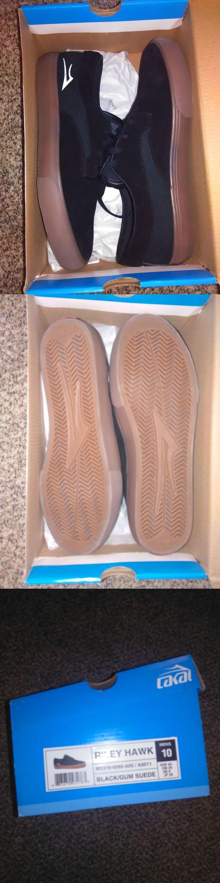 Men 159070: Lakai Riley Hawk Skateboard Shoes Black/Gum Size 10 BUY IT NOW ONLY: $31.5
