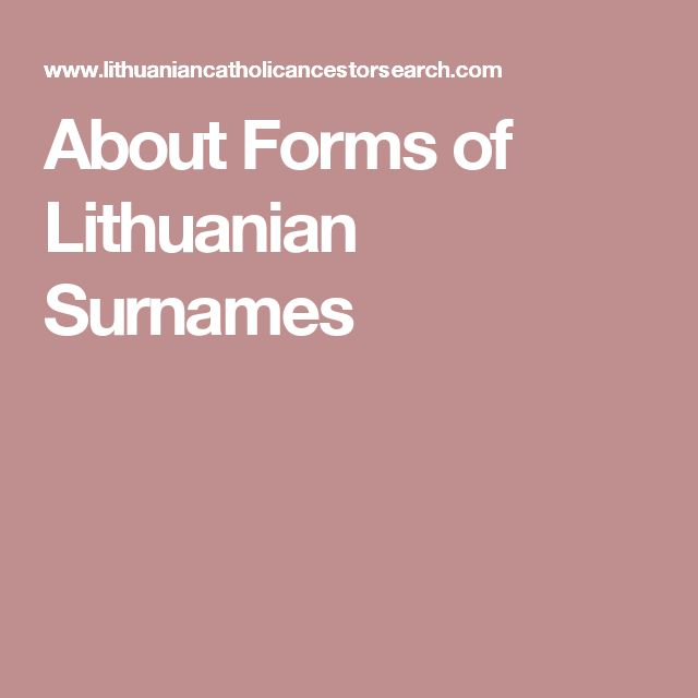 Prussian lithuanian surnames