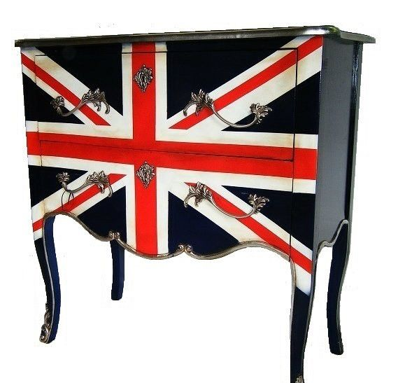 French style Union jack chest of drawers...