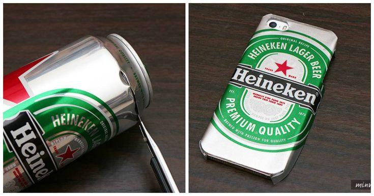 Aprende como hacer un case de tu cerveza favorita usando la lata ¡Está súper fácil!