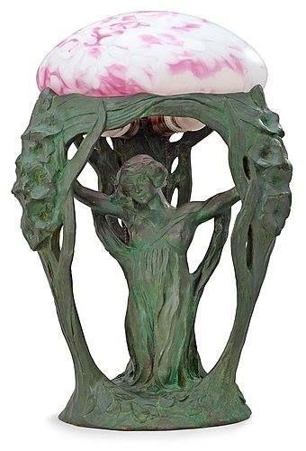 Art Nouveau Lamp by Alice Nordin, Stockholm 1912