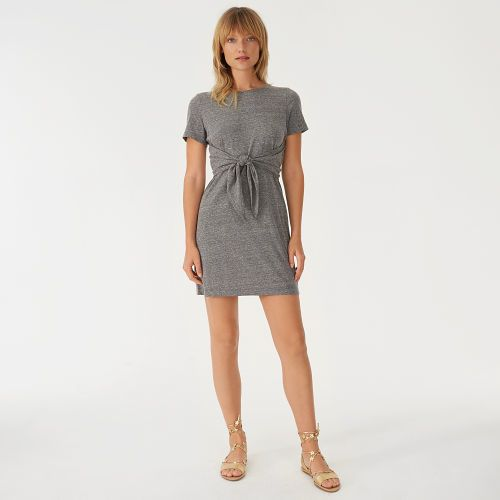 Allyloo Knit Dress  Our Allyloo dress combines your favorite T-shirt with the easy femininity of a summer dress. Featuring a heathered finish with nuanced highs and lows and a waist-defining tie, you'll want to wear it all weekend long.