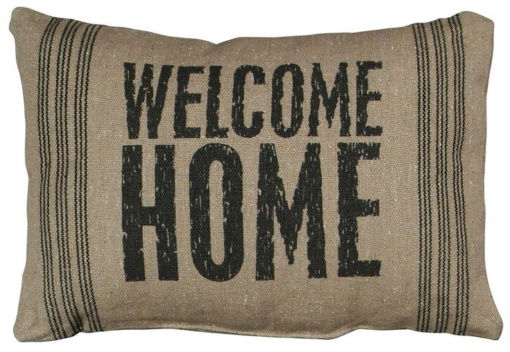 Welcome Home Throw Pillow :