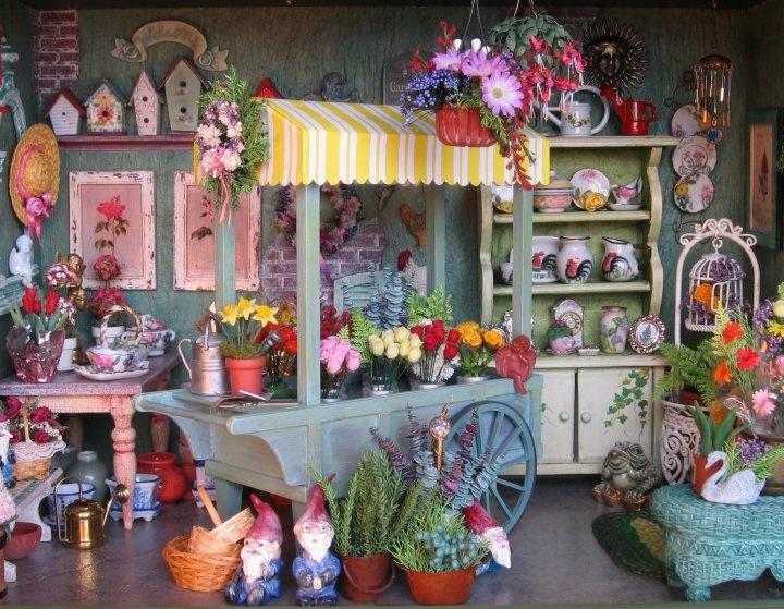 1:12 scale garden & flower shop