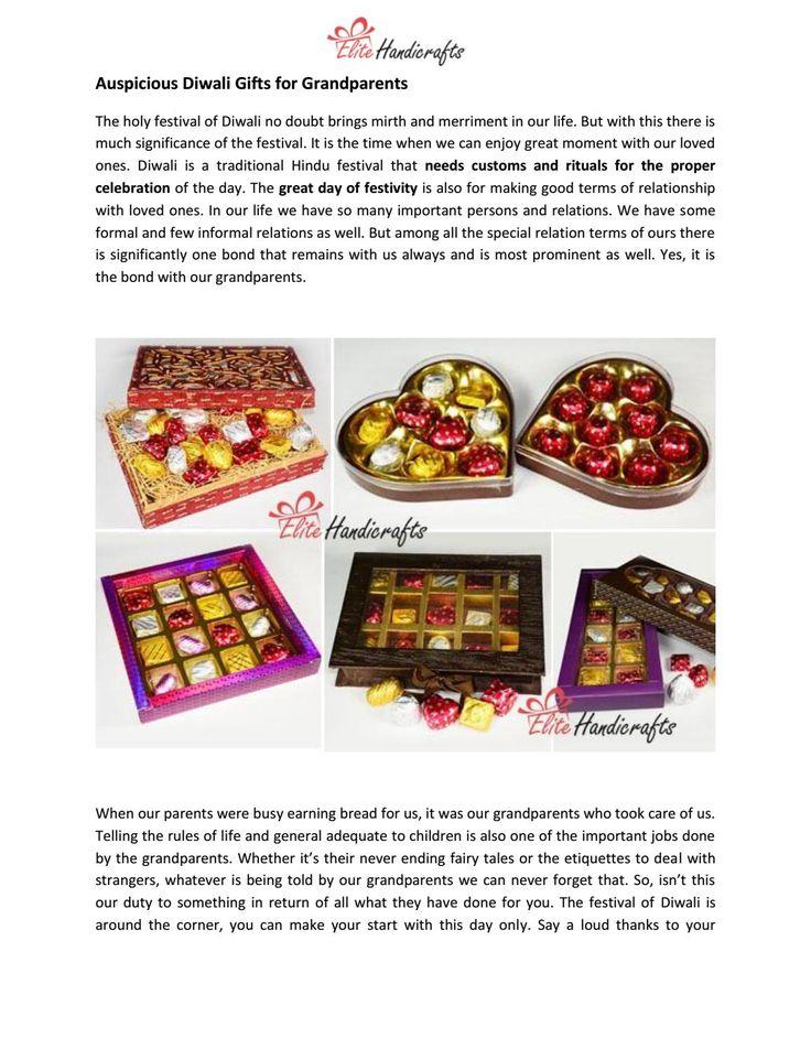 Auspicious diwali gifts for grandparents