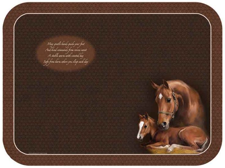 Horse & Foal Design Glass Chopping Cutting Board Surface Saver....$17.95