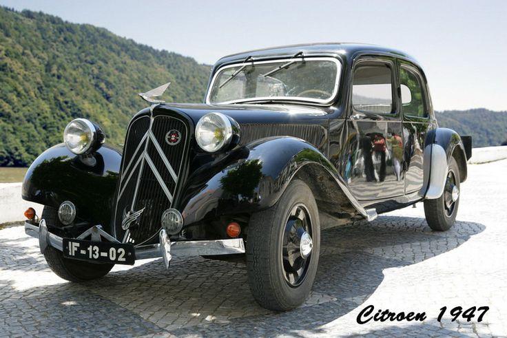 """Citroen 1947, modelo Traction Avant ou """"arrastadeira""""."""