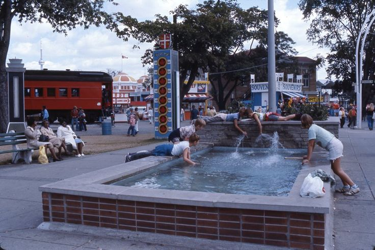 How are you cooling down on these hot summer days? These guests had the right idea!  CNE 1976