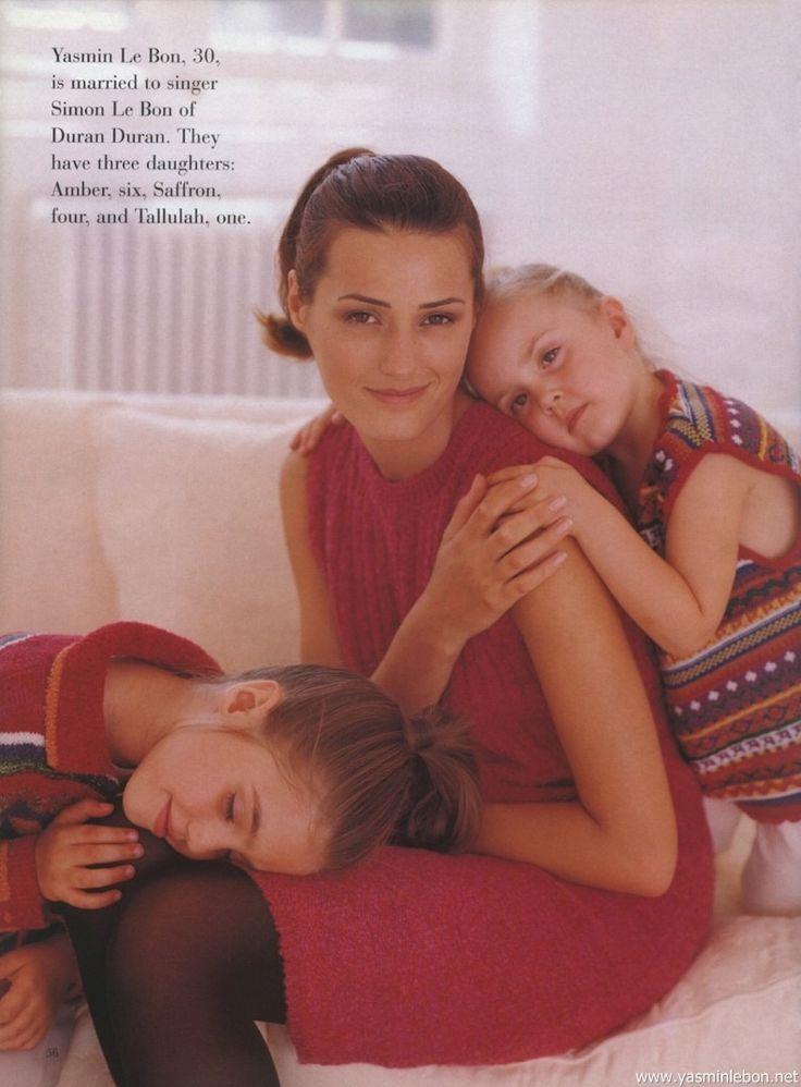Yasmin, Amber and Saffron Le Bon 1995 She UK October stefano azario