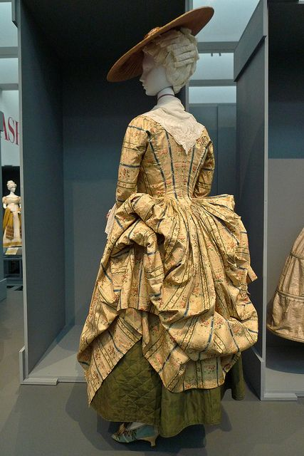 """Polish Style Gown, French, c. 1775 - Fashioning Fashion - LACMA    From the exhibition """"Fashioning Fashion: European Dress in Detail, 1700-1915"""" at the Los Angeles County Museum of Art. On view from October 2, 2010 - March 6, 2011."""