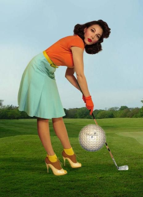 Check out our Women's Clinic if you are interested in learning how to golf! .....What do you know a leftie....