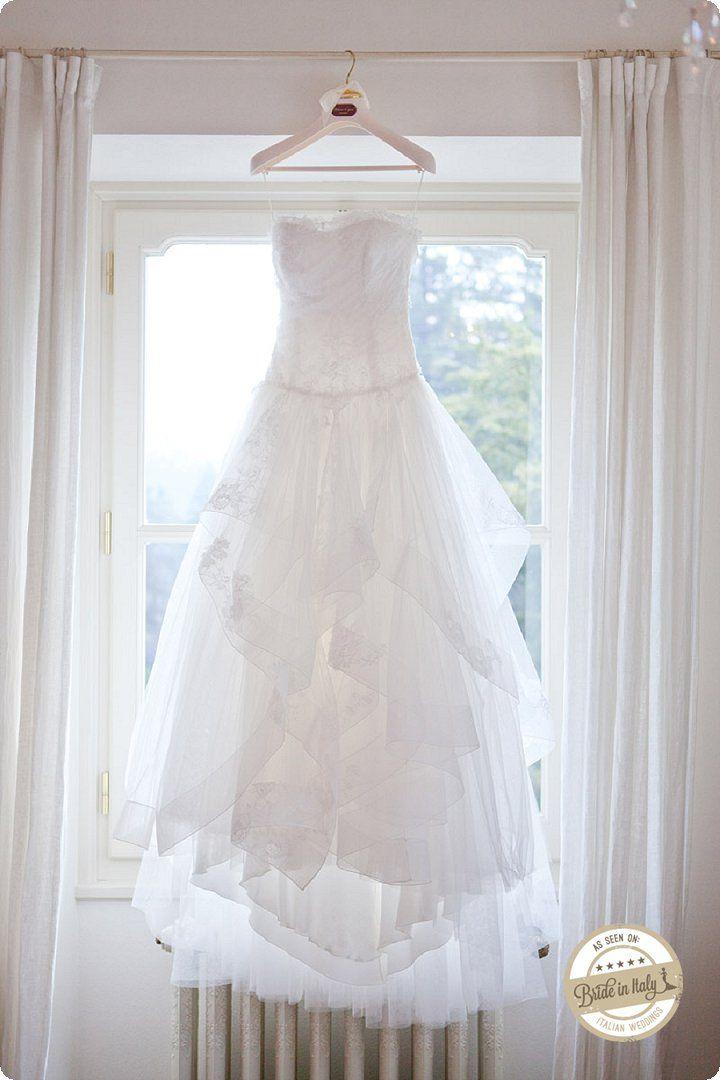 Made in Italy Bridal dress by Alberta Ferretti, Ph Michela Magnani http://www.brideinitaly.com/2013/12/magnani-circus.html #circus #whimsical #wedding #italy