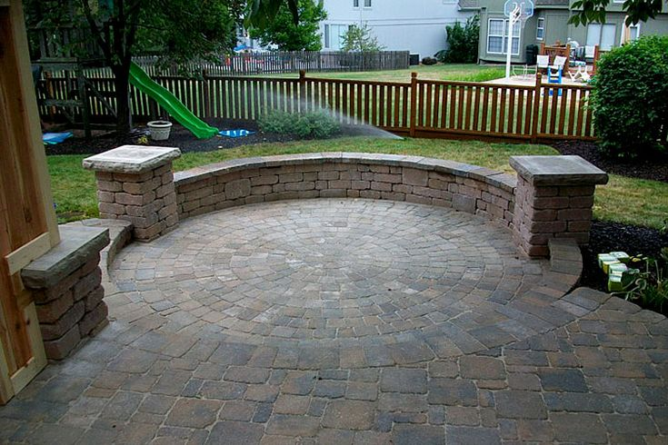 seating walls from pavers - Google Search