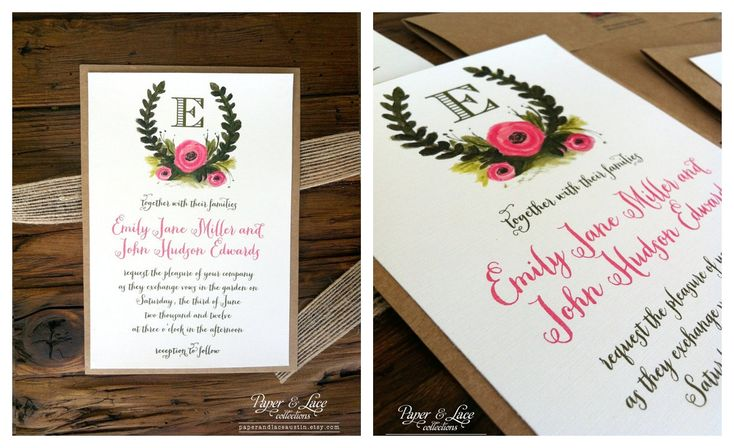 Invitations on kraft paper
