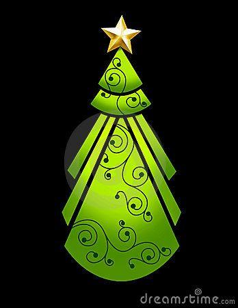 Art deco Christmas Tree