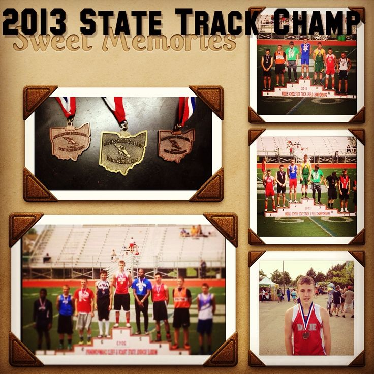 Clay winning state 1st place beat long jump State record and 100/200 dash. So proud! 8th grade
