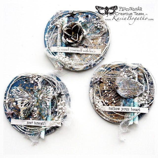 Tiny Treasures - mixed media project for Finnabair CT