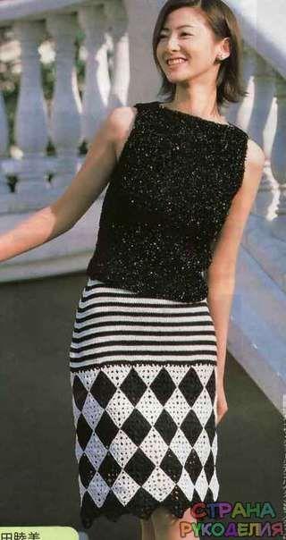 Черно-белая юбка - Юбки,шорты,штаны - Страна рукоделия
