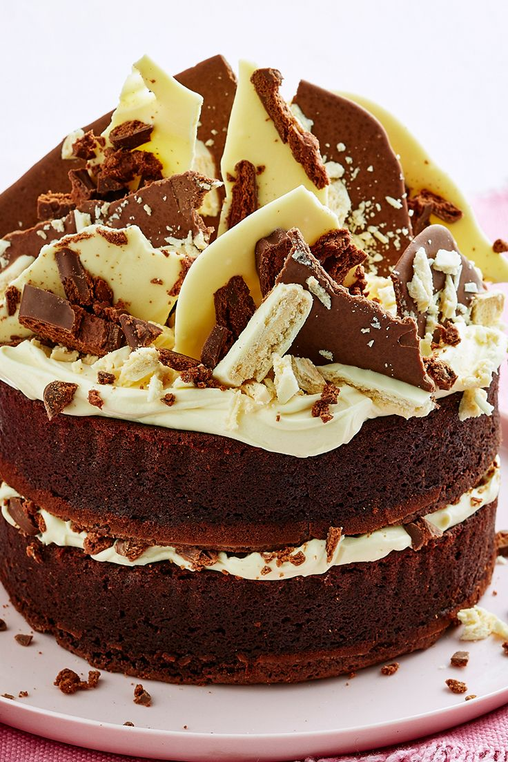 Topped with white and milk chocolate shards, Tim Tams and a layer of whipped cream cheese icing, this decadent Aussie cake is sure to impress your friends and family. Make it for a spectacular birthday treat or to indulge that sweet tooth over the weekend.