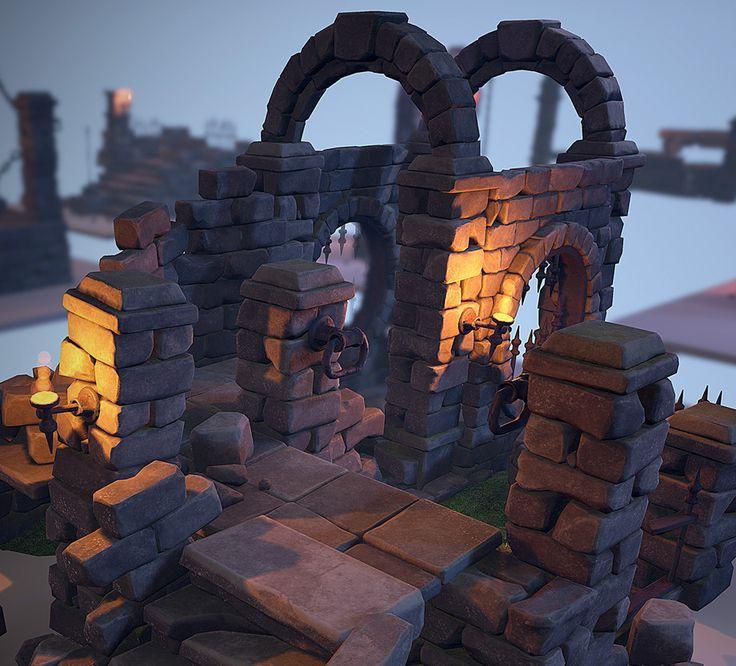 Crumbling Ruins Pack, Warren Marshall on ArtStation at…