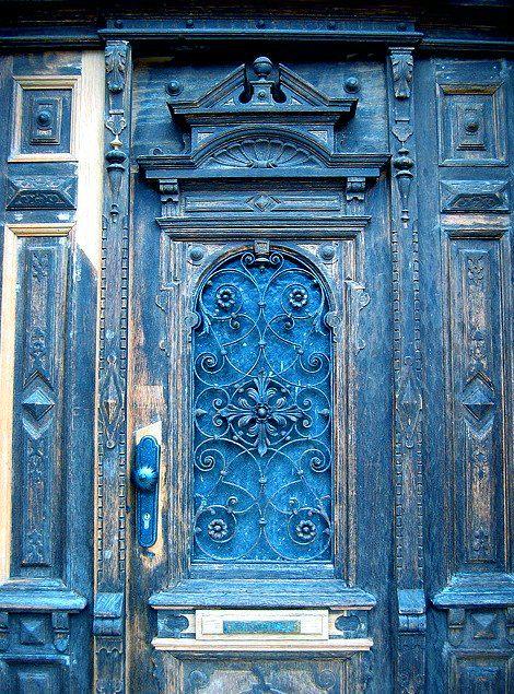 door, beautiful blue