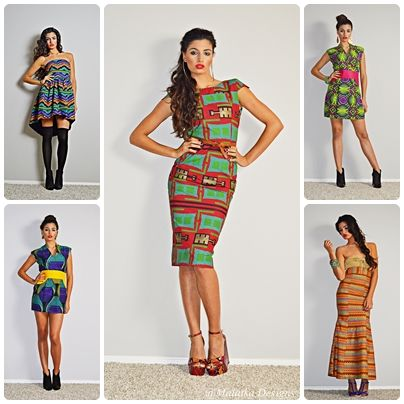 All i want for christmas is a print dress african inspired style