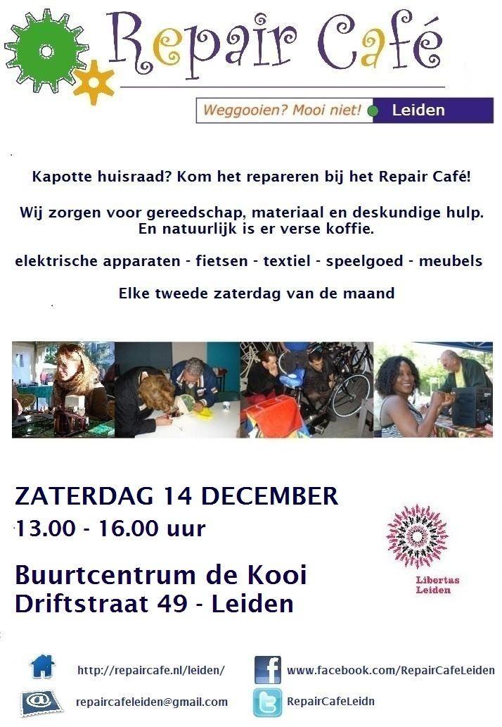 Repair Café Leiden - Repair Cafés zijn gratis toegankelijke bijeenkomsten die draaien om (samen) repareren.