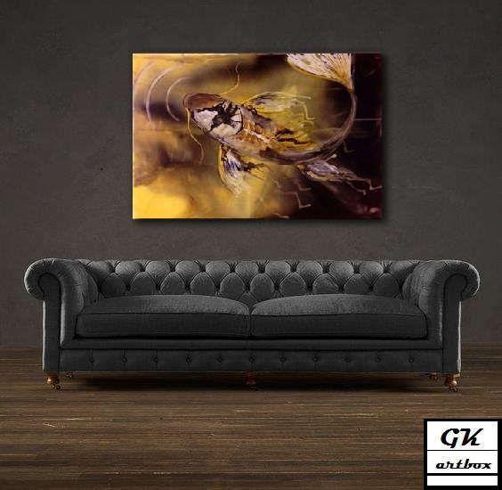Gold koi by gkartbox on Etsy