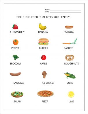 REPIN Healthy Food Worksheets. Plenty of free printable worksheets for your children and/or students.