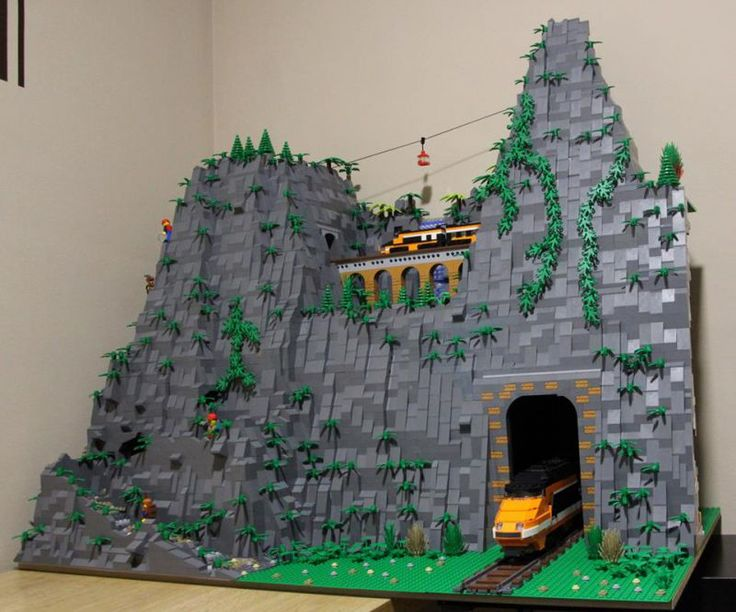 Image result for lego train tunnel moc