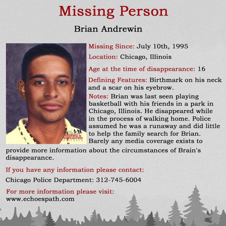 Pin on crime missing
