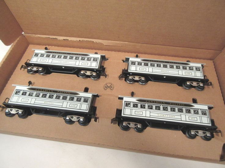 MARX TRAINS 5192X WHITE CAN PACIFIC CARS O-GAUGE #X8087