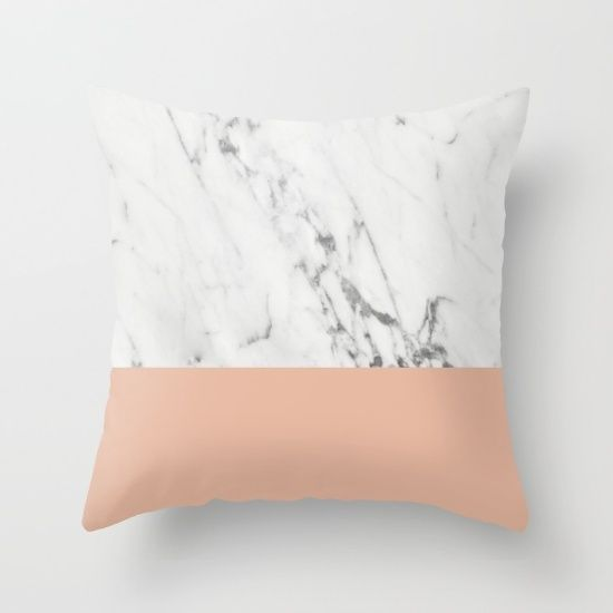 Buy Marble and Coral Throw Pillow by Grace . Worldwide shipping available at Society6.com. Just one of millions of high quality products available.