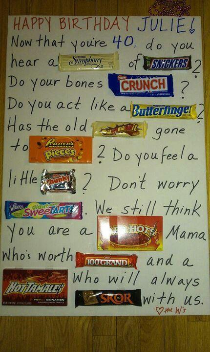 Candy Bar Poem