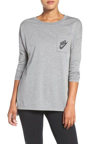 Nike 'Signal' Long Sleeve Tee available at #Nordstrom